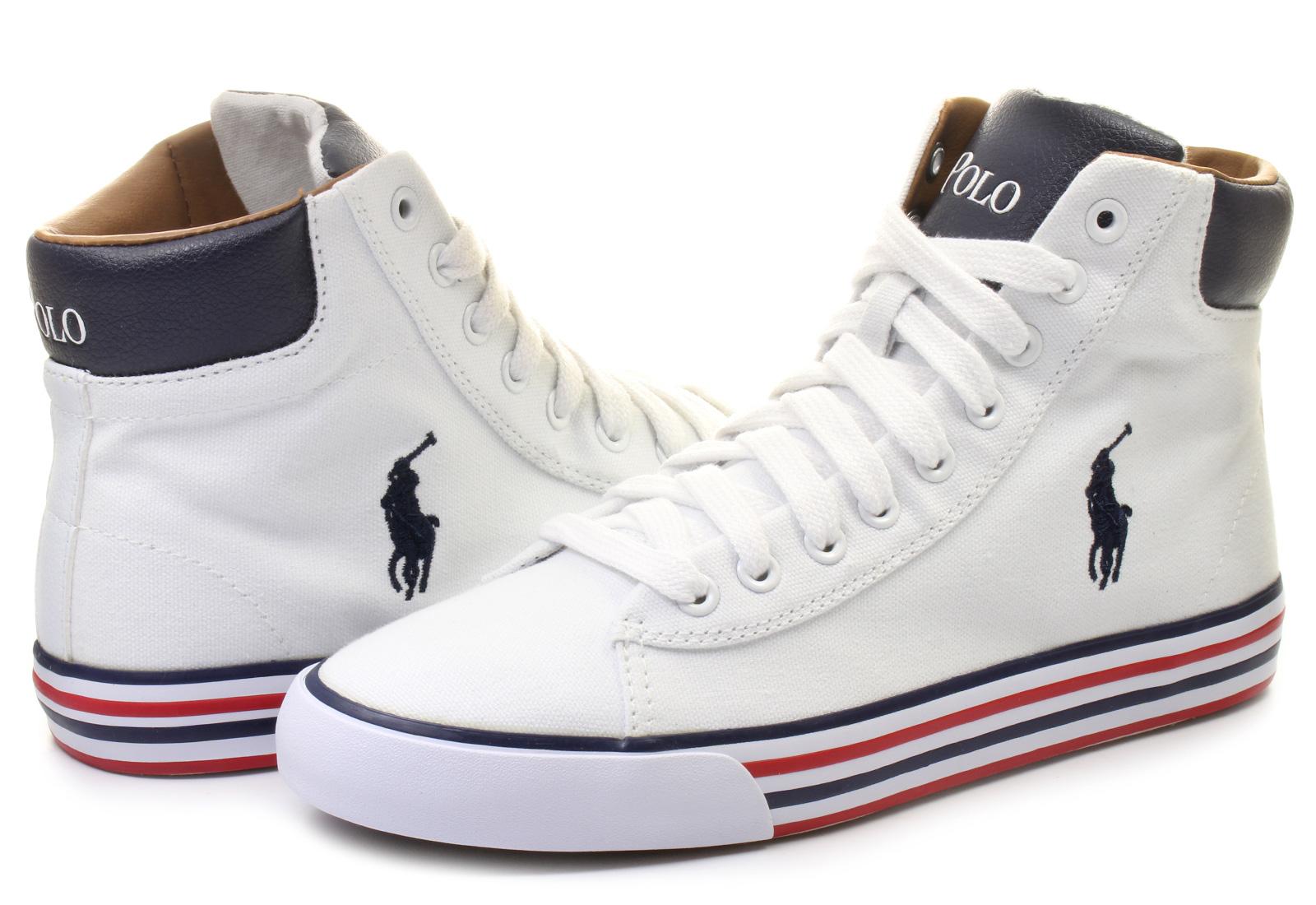 POLO Ralph Lauren Textil Sneaker HARVEY MID Textil weiß